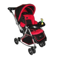 Pliko Paris PK-399 - Baby Stroller 4 in 1 - Merah
