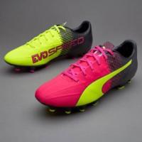 Sepatu Bola Puma Evospeed 4.3 Trick FG Pink Stabilo Original 100%