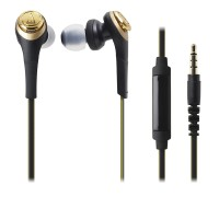 Audio Technica ATH-CKS550IS SOLID BASS IN-EAR HEADPHONES BLACK GOLD