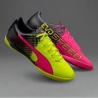 Sepatu Futsal Puma Evospeed 4.3 Trick Pink Stabilo Original 100%