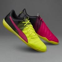 Sepatu Futsal Puma Evopower 4.3 Trick Pink Stabilo Original 100%
