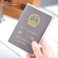 sampul buku cover passport pelindung paspor plastik transparent