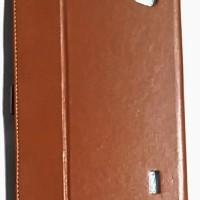 Evercoss Winner Tab V AT8B Leather Case Flip Cover Flip Case - Coklat
