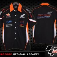 Kemeja MotoGP Honda Repsol Hitam/ pakaian pria /pakaian /baju /pen
