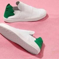 sepatu casual pria premium BNIB,adidas slip on man putih hijau