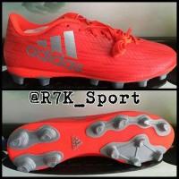 Sepatu Bola Adidas X 16.4 Fxg Red Silver 2016 New Model