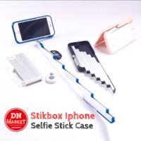 Stikbox Iphone 6/6s Case with bluetooth shutter/Tongsis/Tongkat selfie