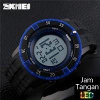 SKMEI Revolve 1089 Hitam Biru Pria Bvlgari Original Jam Tangan Import