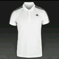 Polo Shirt / Kaos Kerah Adidas ( White)