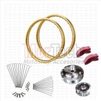 Paket Variasi Velg Pelek Rim Ring Jari 17 Lebar PCX TDR Gold