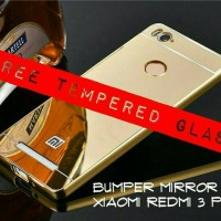 XIAOMI REDMI3/REDMI 3 PRO ALUMUNIUM CASE COVER + TEMPERED GLASS