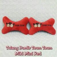 Bantal Mobil Tulang TSUM TSUM Mickey Minnie Merah