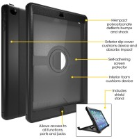 Anti Shock Casing OtterBox Defender Series Case for iPad Air 1 / 2