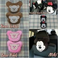 Headrest/Sandaran Kepala/Bantal Mobil Boneka Bear/Mickey/Minnie Mouse