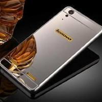 Mirror Case Lenovo A6000 A6000+ Metal Bumper Slide Mirror Back Cover
