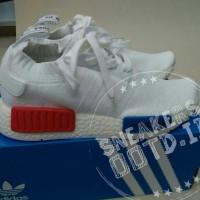 sepatu wanita sneakers casual adidas nmd full white