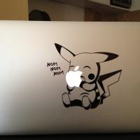 143 macbook decal sticker laptop aksesoris laptop pokemon go pikachu