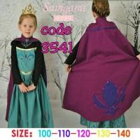 dress frozen elsa coronation / baju elsa anak perempuan dropship 3541 - Size 150