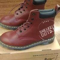 sepatu pria sneakers boots formal docmart supreme high coklat