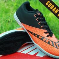 Sepatu Futsal Nike Elastico Finale III IC Hitam Oren/Orange KW Super