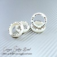 Rep Tamiya 94943 Super Hard Arched Tires / Ban L Marking White -BML09