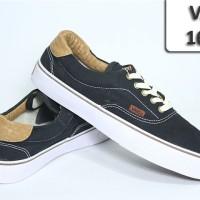 Sepatu Vans 164 Hitam Jait List Coklat VA-164