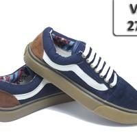Sepatu Vans Old School Navy Garis Putih VA-272