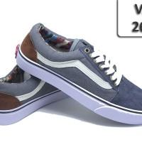 Sepatu Vans Old School Abu Garis Putih VA-268