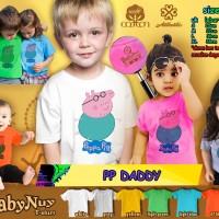 Kaos Anak Baju Pakaian Kids  Peppa Pig Daddy 2 3 4 5 6 9 - 11 12 Tahun