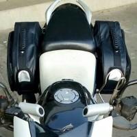 Tas Samping Motor Side Bag oval Touring Back Box Biker