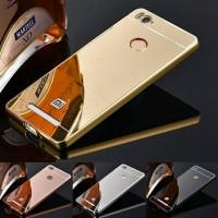 Casing Xiaomi Redmi 3x / Hard Case Bumper + Back Mirror Metal