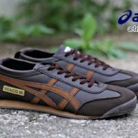 Sepatu Murah Asic Mexico66 Brown Sepatu Casual Pria