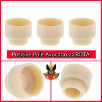 Replacement Positive Pole Insulator Avocado 22 RDTA PEEK