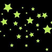Bintang star glow in the dark small fosfor tempelan dinding sticker