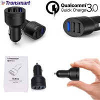 TRONSMART 3-Port Car Charger with Qualcomm Quick Charge 3.0 and VoltIQ