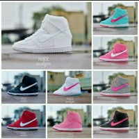 Sepatu Nike Wedges Women Cewek Hitam Putih Tosca Pink Biru