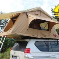 SCORPION Roof Top Tent 1,4 m ( Tenda di atas Mobil ) warna Sand Yellow