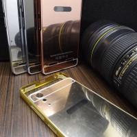 Case Mirror Lenovo A6000 A 6000 Alumunium Metal Bumper Mirror Backcase
