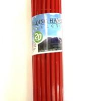 Gantungan Baju Anak Bulat 20 sticks Merah Apollo