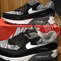 sepatu pria wanita sneakers casual running nike air max 90 hitam abu