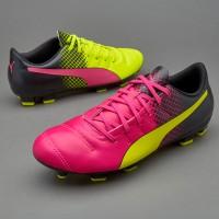 Sepatu Bola Puma Evopower 4.3 Trick Fg Pink Stabilo Original 100%
