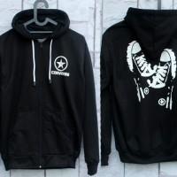 Jaket Converse Footwear Hitam (Hoodie/jumper/Sweater/Fleece/Black)