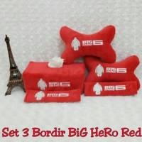 Set Car/Bantal Mobil Big Hero Baymax/Merah/Putih 3 in 1