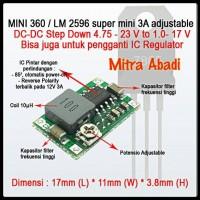 Step DOWN Mini 3A 1.0-17V DC-DC Adjustable 360/LM 2596
