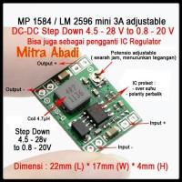 Step DOWN Mini 3A 0,8-20V DC-DC Adjustable MP 1584/LM 2596