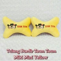 Headrest/Sandaran Kepala/Bantal Mobil Tsum Tsum Mickey Minnie/Kuning
