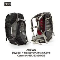 tas ransel murah , tas gunung murah, tas daypack 45liter+raincover 035