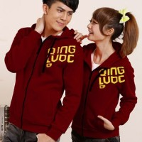 jaket couple maroon