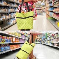 Tas Troli Lipat Troly Shopping Foldable Trolley Bag Cart - HIJAU-TROLI