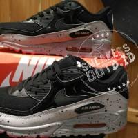 sepatu pria wanita sneakwrs casual running nike air max 90 oreo hitam